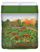 The Old Beekeeping Museum Duvet Cover