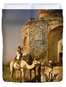 The Old Blue Tiled Mosque - India Duvet Cover