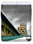 The Old Bridge Hwy 190 Mississippi River Bridge Baton Rouge Duvet Cover