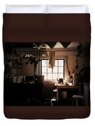 The Old Camp Kitchen Duvet Cover