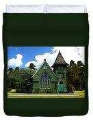 The Old Church In Hanalei Duvet Cover