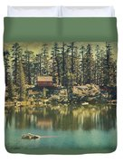 The Old Days By The Lake Duvet Cover by Laurie Search