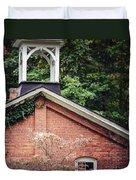 The Old Erie Schoolhouse Duvet Cover