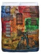The Old Fashion Bike Duvet Cover