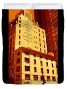 The Old Good Days In Manhattan Duvet Cover