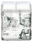 The Old Horse Farm Duvet Cover