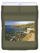 The Old Lizard Lifeboat Station Duvet Cover
