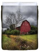 The Old Red Barn Duvet Cover