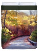 The Old Roadway In Autumn II Duvet Cover