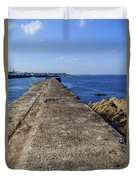 The Old Shipyard Pier Duvet Cover