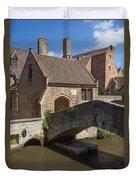 The Old Stone Bridge In Bruges Duvet Cover