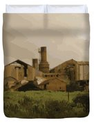 The Old Sugar Mill At Koloa Duvet Cover
