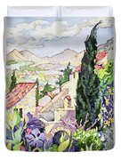 The Old Town Vaison Duvet Cover