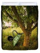 The Old Wheelbarrow Duvet Cover