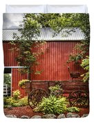 The Old Wood Cart Duvet Cover