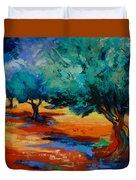 The Olive Trees Dance Duvet Cover