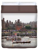 The Olympic Torch Leaves Hampton Court On The Final Leg Of Its J Duvet Cover