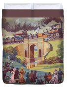 The Opening Of The Stockton And Darlington Railway Macmillan Poster Duvet Cover by Norman Howard