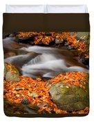 The Orange Stream Duvet Cover
