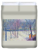 The Orchard Under The Snow  Duvet Cover by Hippolyte Petitjean
