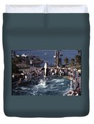 The Original Shamu Orca Sea World San Diego 1967 Duvet Cover