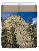 The Other Side Of Devils Tower Duvet Cover