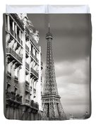 The Other View Of The Eiffel Tower Duvet Cover