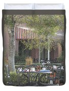 The Outdoor Cafe Duvet Cover