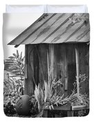 The Outhouse Bw Duvet Cover