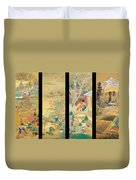 The Outskirts Of Kyoto Throughout The Season Duvet Cover