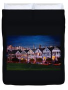 The Painted Ladies Of San Francsico Duvet Cover