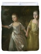 The Painter's Daughters Chasing A Butterfly Duvet Cover