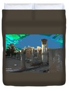The Palaestra -temple Of Apollo Duvet Cover