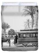 The Palm Beach Trolley Duvet Cover