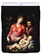 The Panciatichi Holy Family Duvet Cover