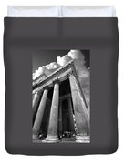 The Pantheon In Rome Bw Duvet Cover