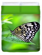 The Paper Kite Or Rice Paper Or Large Tree Nymph Butterfly Also Known As Idea Leuconoe 2 Duvet Cover
