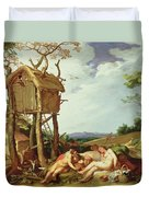 The Parable Of The Wheat And The Tares Duvet Cover