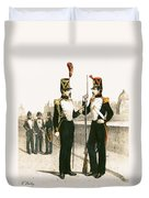 The Parisian Municipale Guard, Formed 29th July 1830 Coloured Engraving Duvet Cover