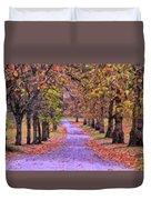 The Park In Autumn Duvet Cover