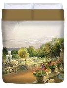 The Parterre Harewood House Near Leeds Duvet Cover
