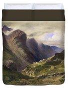 The Pass Of Glencoe, 1852 Duvet Cover by William Bennett