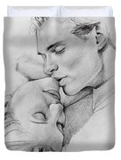 Passion Of The Kiss Duvet Cover