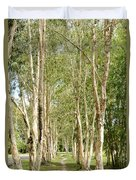 The Path Between The Trees Duvet Cover