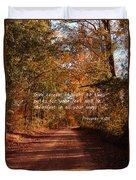 The Path Less Traveled Duvet Cover