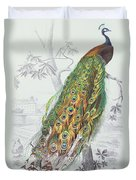 The Peacock Duvet Cover by A Fournier