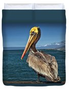 The Pelican Of Oceanside Pier Duvet Cover
