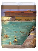 The Peoples Pool, Palm Beach, 1927 Duvet Cover