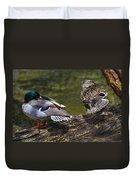 The Perfect Mallard Couple Duvet Cover