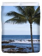 The Perfect Palm Tree - Sunset Beach Oahu Hawaii Duvet Cover